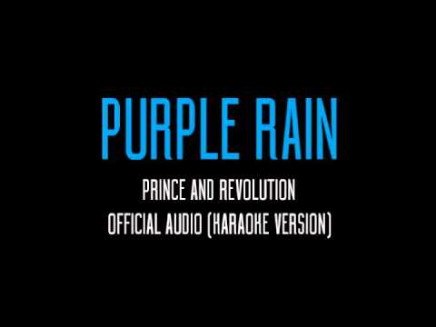 Purple Rain - Prince Official Audio(KARAOKE Version)