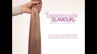 Light Brunette with Golden Blonde Highlights #8/18 - Ultra Soft, Clip-in Human Hair Extensions