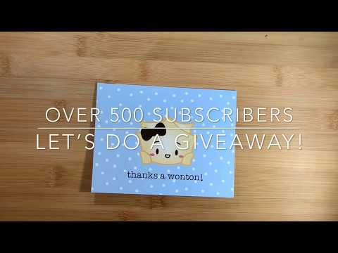 GIVEAWAY!!! Over 500 Subscribers - Let's Celebrate With A Giveaway!