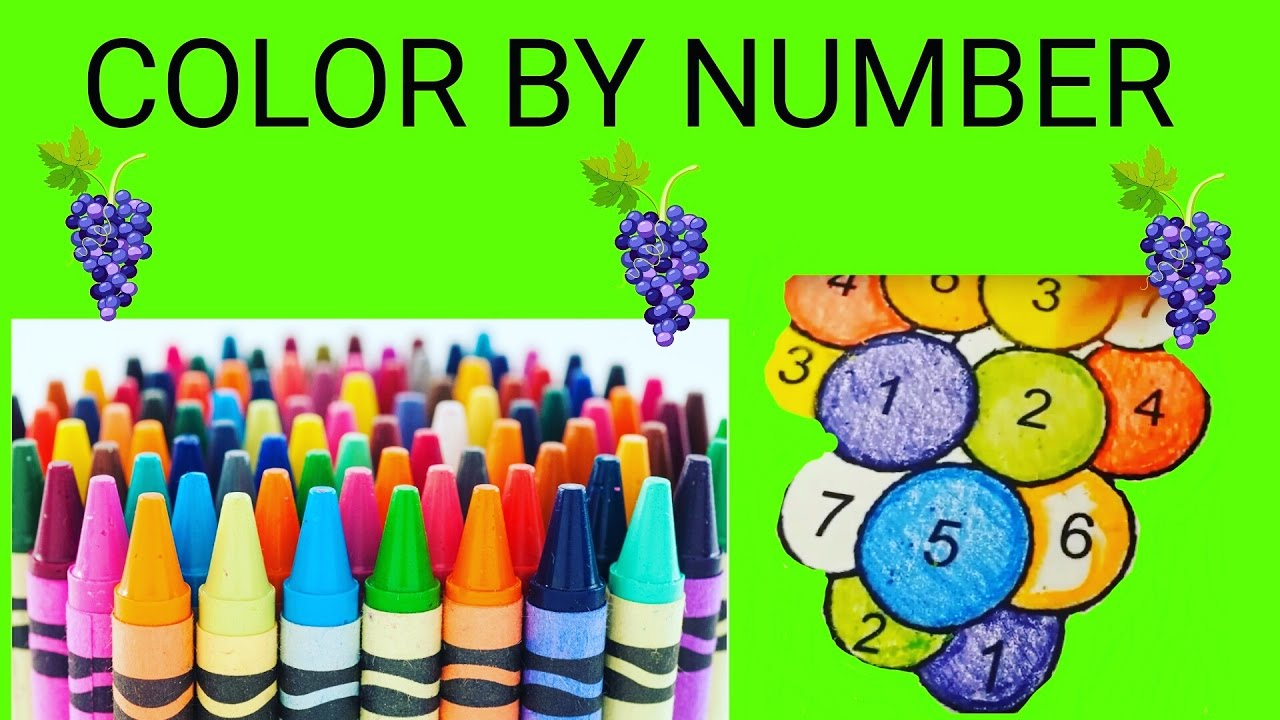 Color By Number - Rainbow Grapes! - YouTube