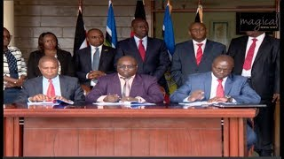SEE RUTO OVERSEE THE SIGNING OF 10.7B AGREEMENTS IN FOUR COUNTIES!!