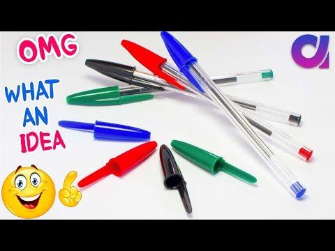 Best Out Of Waste Pen Caps Craft Idea | DIY Craft Project | Pen Cap Craft | Key Holder | Artkala 435