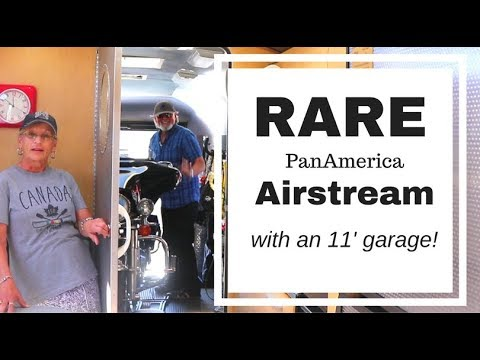 TOUR A RARE AIRSTREAM with A GARAGE