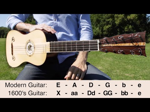 What Guitars Were Like 400 Years Ago (The 9 String Baroque Guitar)