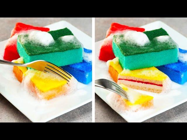 KUE SPONS PALSU || 26 KIAT DIY GILA DAN CEPAT | Bersihkan, Rapikan, dan Tata Rumahmu