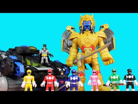 Imaginext Goldar & Rita Repulsa Battle Mighty Morphin Power Rangers Batman Batbot