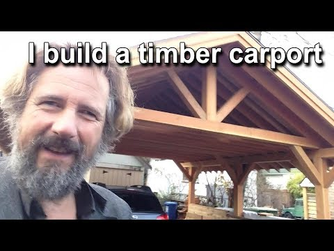 I Design And Build A Timber Carport - Design Project Construction Project  Travels With Geordie #88