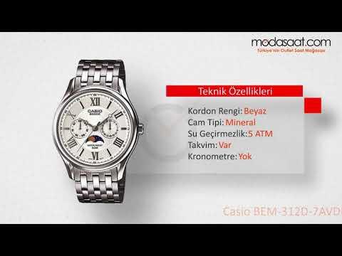 Casio BEM-312D-7AVPF Erkek Kol Saati Özellikleri | Modasaat.com