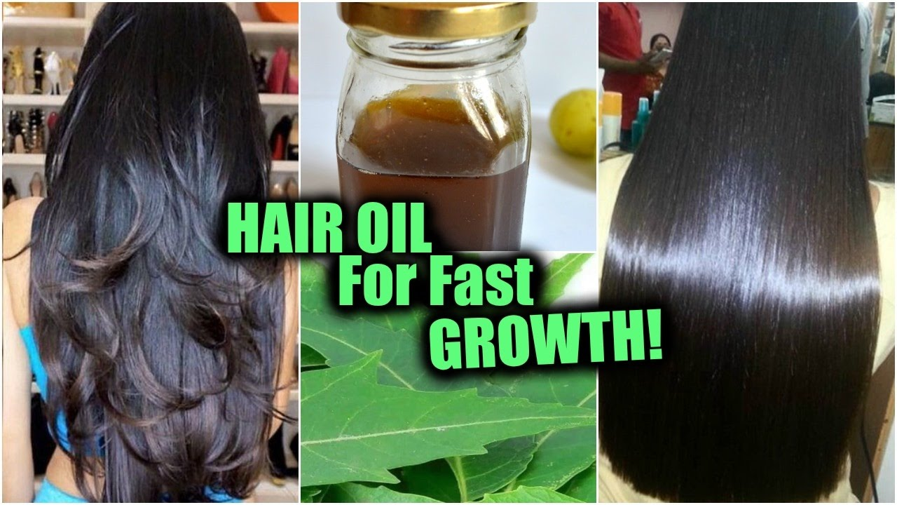 "Homemade Hair Oil For Fast Hair Growth Hair Loss ""�neem"