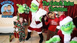 THE GRINCH RUINS CHRISTMAS | DEION'S PLAYTIME