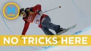 Halfpipe athlete Elizabeth Swaney doesn't attempt any tricks during run | Your Morning