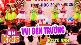 Vui Đến Trường ♫ Múa Hát Tốp Ca Bé Tú Anh ♫ Nhạc Thiếu Nhi Đón Năm Học Mới
