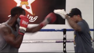 TERREL GAUSHA SMASHES THE PADS @ OPEN MEDIA WORKOUT / TERRELL GAUSHA