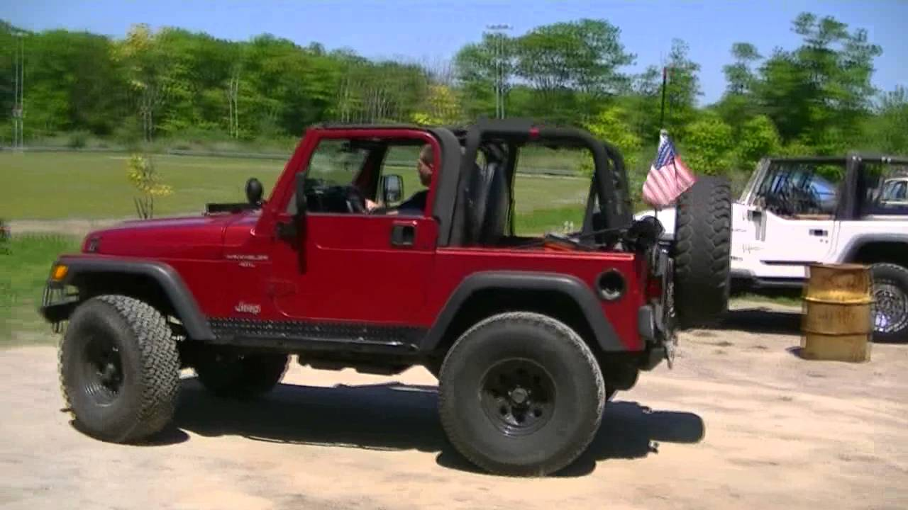 Jeep Wrangler Lifted >> Lifted Jeep TJ flexing on the RTI ramp - YouTube