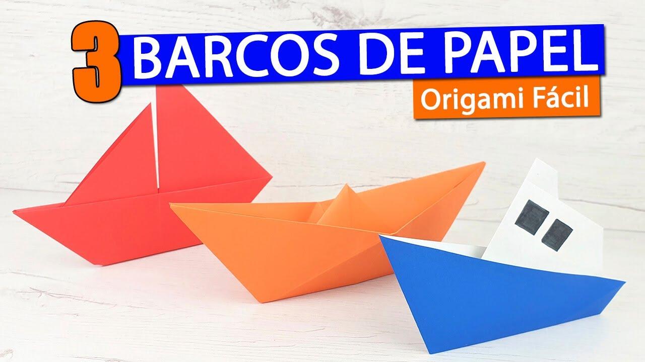 ⛵ 3 Barcos de papel fáciles de hacer con papiroflexia