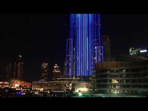 Dubai Burj Khalifa Fountain Show New Year's Eve 2018