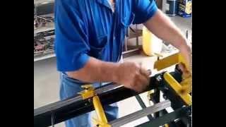Steel cut off bench