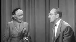 You Bet Your Life #54-08 First female Mayor of Newport Beach (Secret word 'Chair', Nov 4, 1954)