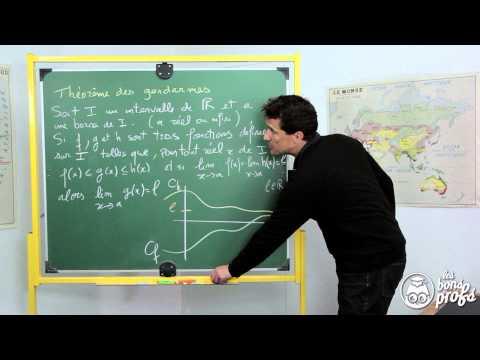 Théorème des gendarmes - Le rappel de cours - Maths terminale - Les Bons Profs