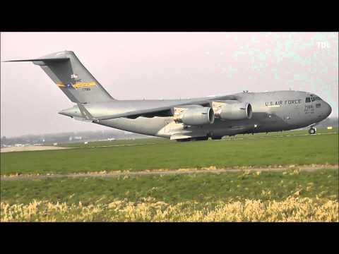 Boeing C-17 Globemaster III takeoff @ Rotterdam The Hague Airport