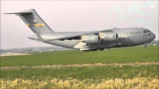 Boeing C-17 Globemaster III takeoff @ Rotterdam The Hague Airport