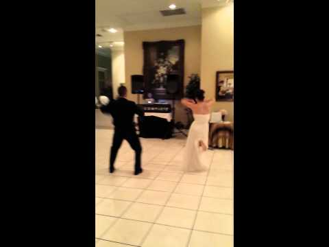 Surprise First Dance at Military Wedding