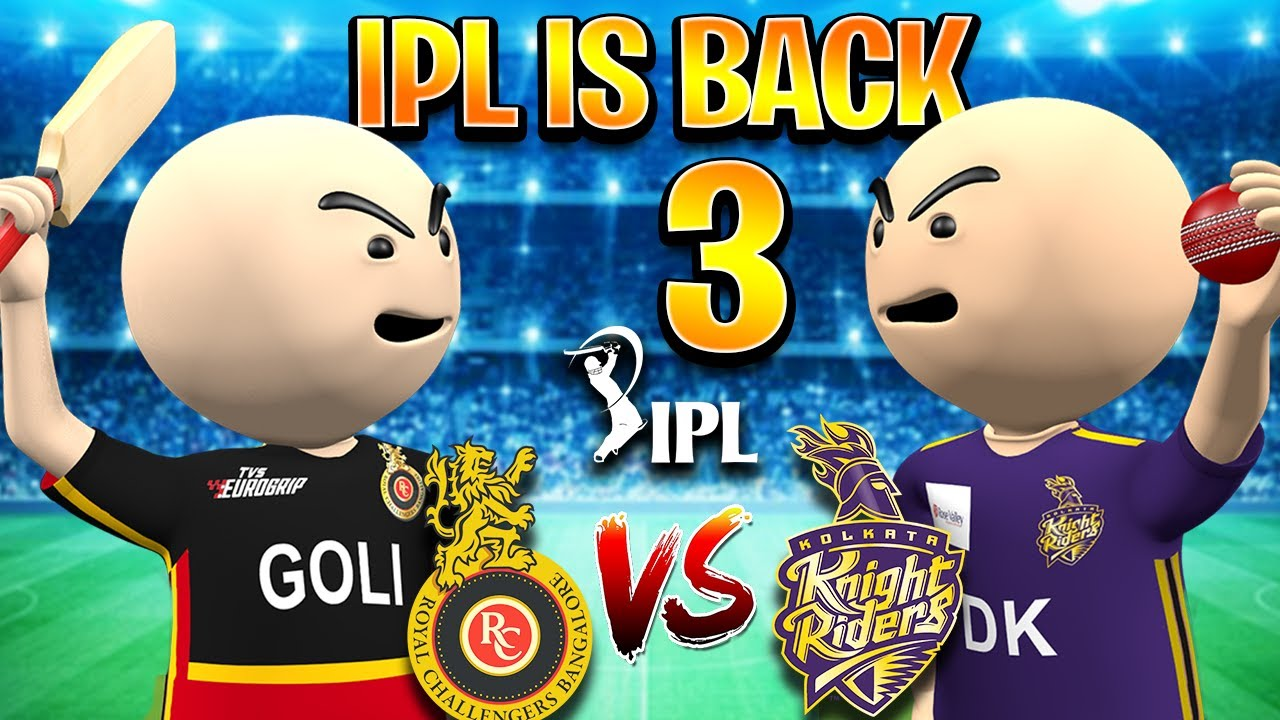 3D ANIM COMEDY - CRICKET IPL IS BACK || KKR VS RCB PART 3 || DESI COMEDY || IPL MATCH