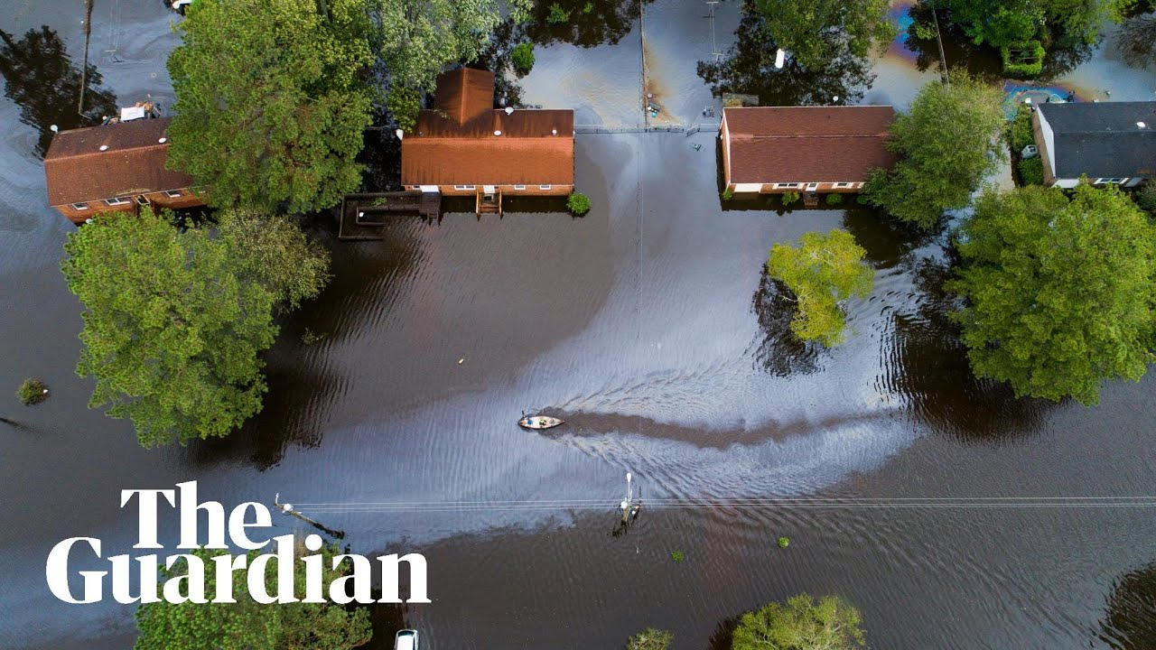 Storm Florence: footage shows scale of flooding in North Carolina