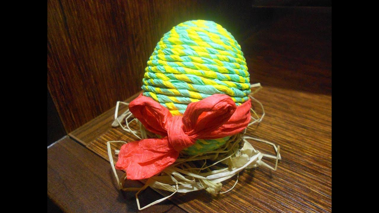 d72b7485c Veľkonočné vajíčko ozdobené krepovým papierom - VIDEO Ako sa to robí.sk