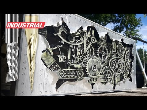 "How To CNC 3D Carve Aluminum & Wood to Create ""Shipwreck"" using CorelDraw, ArtCam and Amana CNC Bits"