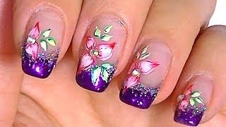 Дизайн ногтей. Рисунки на ногтях - акварель.(Дизайн ногтей. Рисунки на ногтях - акварель Сделанный в домашних условиях дизайн ногтей становится маленьк..., 2014-01-18T22:16:51.000Z)