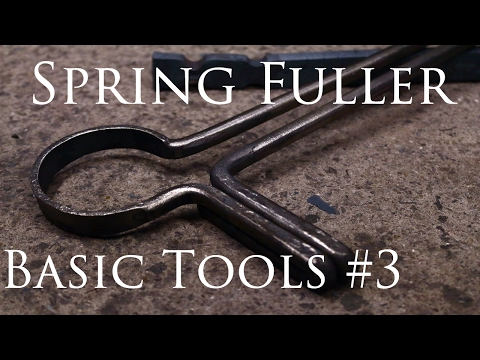 Blacksmithing Tools #3 Spring Fuller (mild steel)