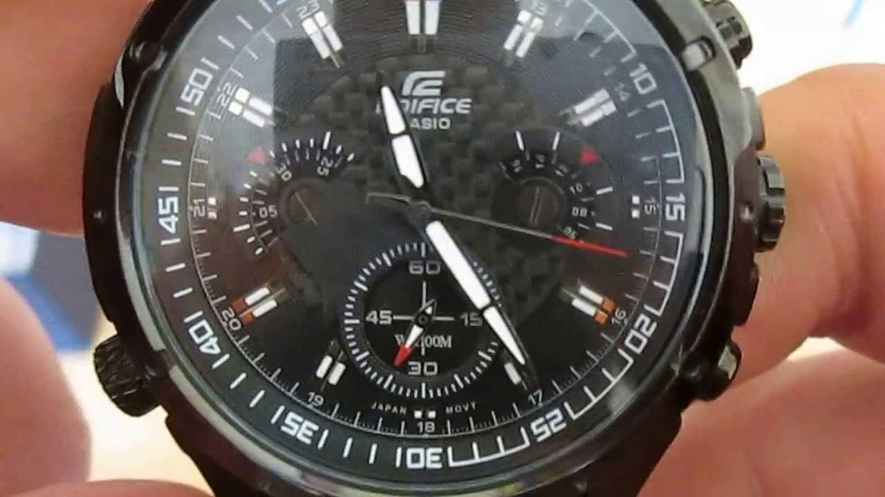 474b05b07c75 CASIO EDIFICE EF-535BK-1AV SPORT WATCH - YouTube