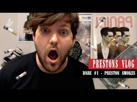 Preston Vlog - Dare #1 Smoking