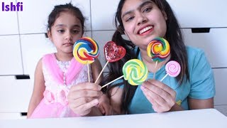 Colourful Lollipop & Finger Family Song by Rufi and Mummy