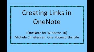 Creating Links in OneNote