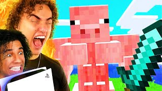 Don't Laugh = Win PS5 (Minecraft Edition)