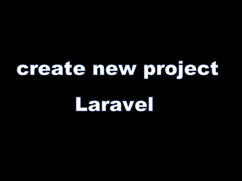 create new project in laravel 5