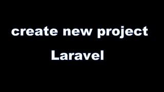 create new project in laravel 5