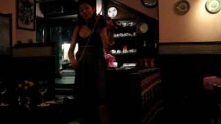 Fumiko playing fado at A Tasca
