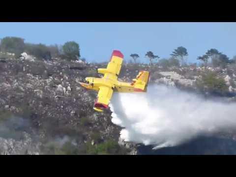 Kanader Canadair Water Bomber Croatia - Vratolomije U Dragi, Rijeka
