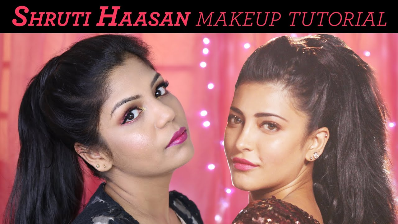 shruti hassan makeup tutorial | welcome back (title track
