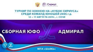 Хоккейный матч. 13.08.19. «Сборная ЮФО» - «Адмирал»