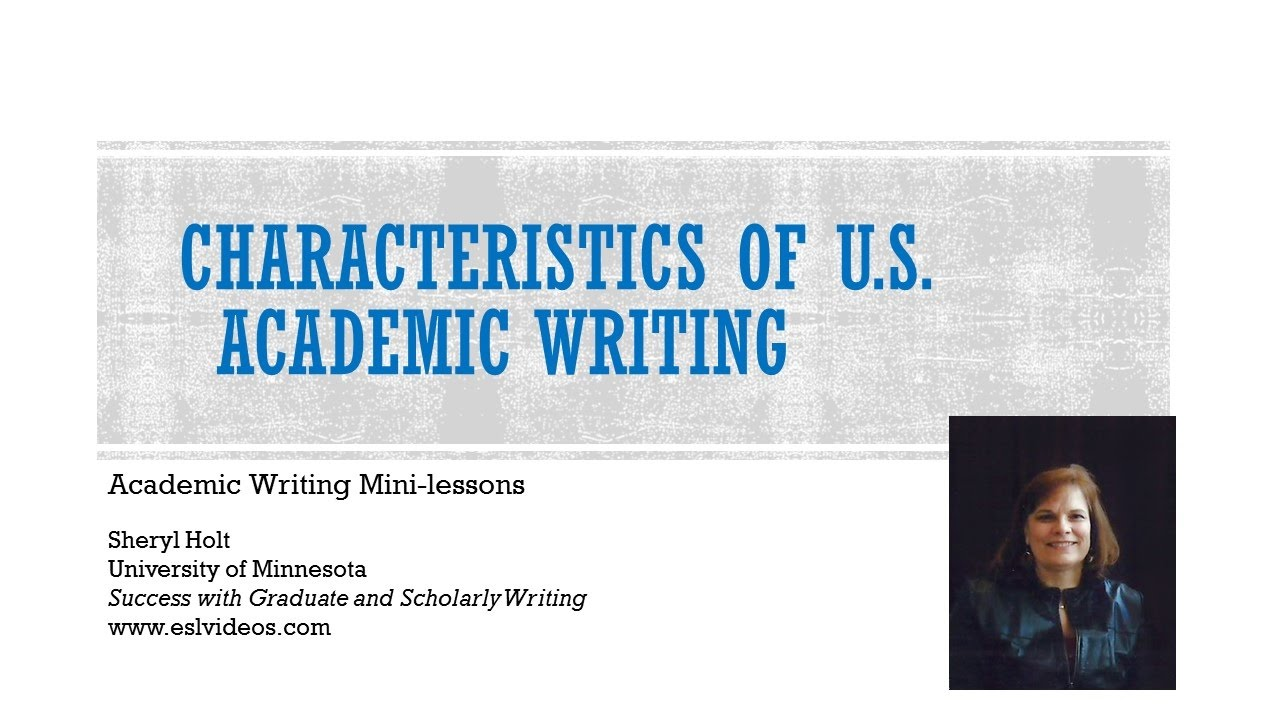 Academic writing is