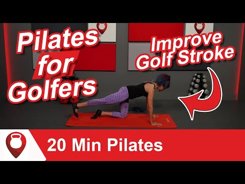 20 Min Pilates for Golfers   Simple Exercises to Improve Golf Stroke  Fitscope Studio