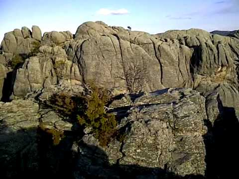 rock climbing behind Mt rushmore view from the top - YouTube