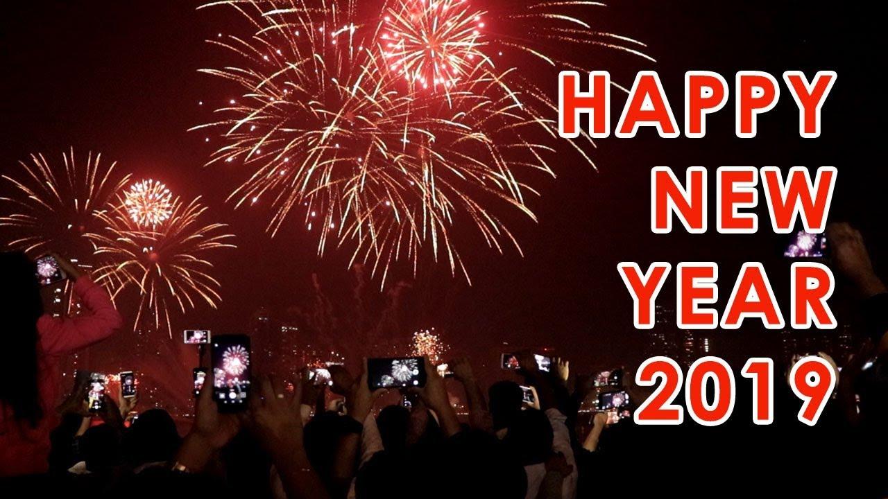 Sharjah 2019 New Year Fireworks - Al Majaz Waterfront - YouTube