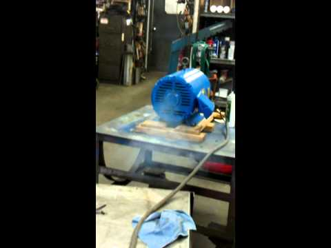 Electric motor winding failure.