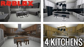 ROBLOX | Welcome To Bloxburg | 4 Types Of Kitchens | Bloxburg Update