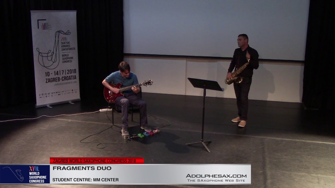 Hall Tone Blues by Rich Patittuci    Fragments DUO   XVIII World Sax Congress 2018 #adolphesax